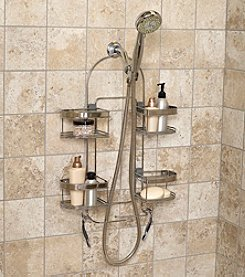 Zenna Home™ Stainless Steel Premium Expandable Shower Caddy