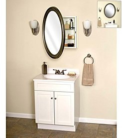 Zenith® Pewter Oval Medicine Cabinet