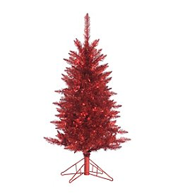 Gerson 4' Red Tinsel Tree