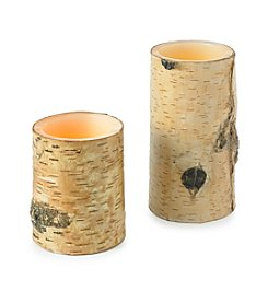 Ruff Hewn Birch Bark LED Candle