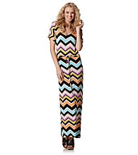 SHE Chevron Print Maxi Dress