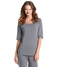Cuddl Duds® Cuddl Smart Knit Top - Graphite Hearts