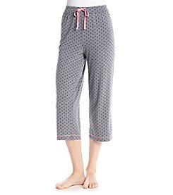 Cuddl Duds® Cuddl Smart Knit Capri - Graphite Hearts