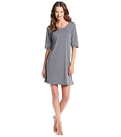 Cuddl Duds® Cuddl Smart Knit Sleepshirt - Graphite Hearts