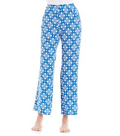 cool girl™ Jen Knit Pants - Blue Diamond Dot