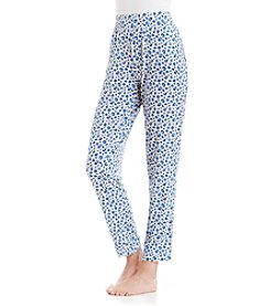 cool girl™ Lindsay Knit Pants - Blue Animal