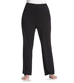Chanteuse® Plus Size Knit Pants - Jet Black