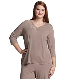 Chanteuse® Plus Size Knit Top - Ruff Slate