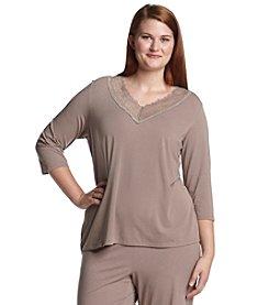Chanteuse® Plus Size Knit Top - Ruff Slate