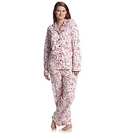 Intimate Essentials® Plus Size Knit Classic Pajama Set
