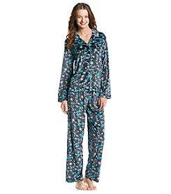 Jasmine Rose® Velour Pajama Set