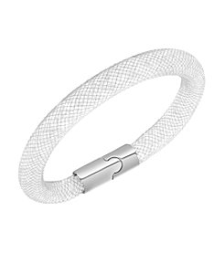 Swarovski® Silvertone Palladium Stardust White Bracelet