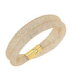 Swarovski® Stardust Goldtone Double Bracelet