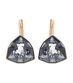 Swarovski® Rose Goldtone/Crystal Brief Silver Night Pierced Earrings