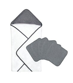 Trend Lab 6-pc. Gingham Seersucker Hooded Towel and Wash Cloth Set