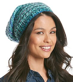 Collection 18 Seed Stitch Rainbow Slouch Hat
