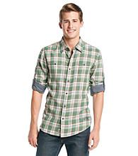 Buffalo by David Bitton Men's Lichen Combo Medium Plaid Woven Shirt