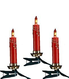 Kurt Adler 10-Light Red Candle Light Set