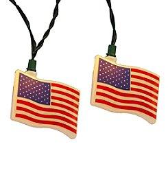 Kurt Adler 10-Light USA Flag Light Set