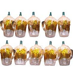 Kurt Adler 10-Light Plastic Beer Mug Light Set