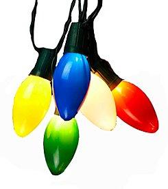 Kurt Adler 10-Light Plastic Bulb String Light Set