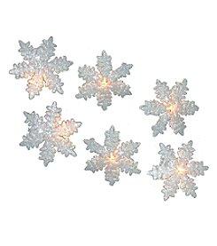Kurt Adler 10-Light White Snowflake Party Light Set