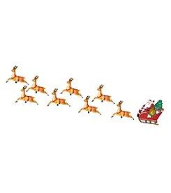 Kurt Adler 10-Light Santa Sleigh and Eight Reindeer Light Set