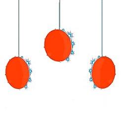 Kurt Adler 3-Light Red Disc LED Snowfall Light Set
