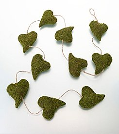 Lillian Rose® Moss Heart Garland