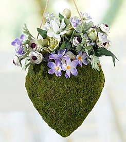 Lillian Rose® Moss Hanging Open Heart Basket
