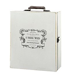 Lillian Rose® True Love Antique White Wine Box