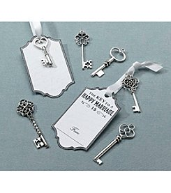 Lillian Rose® Set of 24 Silver Key Tags