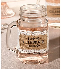 Lillian Rose® Set of Six Burlap Glass Celebrate Wraps