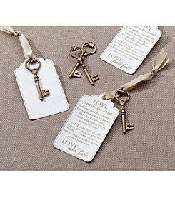 Lillian Rose® Set of 24 Christian Bronze Key Tags