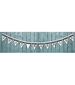Lillian Rose® True Love Just Married Black and White Banner