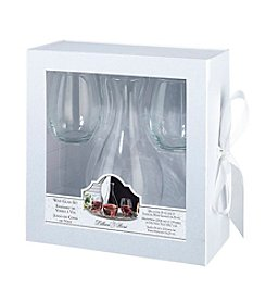 Lillian Rose® Decanter and Two Stemless Wine Glasses