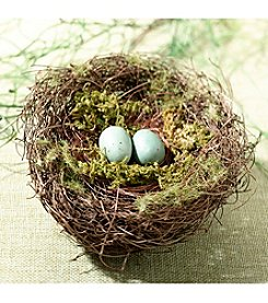 Lillian Rose® Moss Bird Nest Ring Holder