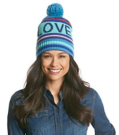 BCBGeneration™ Striped LOVE Varsity Hat