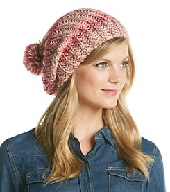 BCBGeneration™ Cozy Striped Hat with Pom