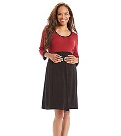 Three Seasons Maternity™ Two Color Knit Dress