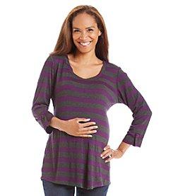 Three Seasons Maternity™ Roll Cuff Stripe Tunic