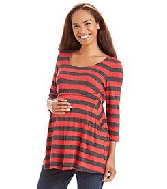Three Seasons Maternity™ Two Pocket Stripe Top