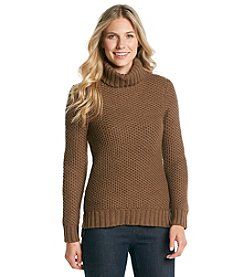 Relativity® Textured Turtleneck Sweater