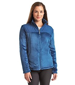 Exertek® Woven Yoke Faux Mink Zip Jacket