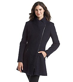 GUESS Asymetrical Zip Walker With Fit And Flare Styling