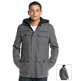 GUESS Men's Wool Four Pocket Jacket