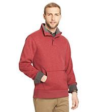Bass® Men's Buttondown Mock Neck Sherpa Fleece
