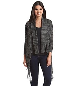 Oneworld® Fringed Open Cardigan