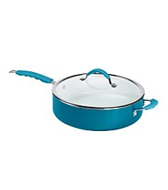 Bella 6-qt. Blue Covered Jumbo Cooker with Assist Handle