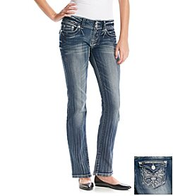 Wallflower® Bling Bow Curvy Straight Leg Jeans